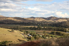 Rotary Lookout Gundagai. Gundagai is an historic town on the Murrumbidgee River only 3 1/2 hours from Sydney. The view from Gundagai Rotary Lookout is truly Royalty Free Stock Image