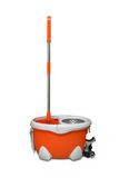 Rotary mop and bucket Royalty Free Stock Image