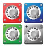 Rotary phone dial icons Royalty Free Stock Photo