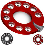 Rotary Phone Dial Set Stock Photo