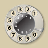 Rotary phone dial Stock Photos