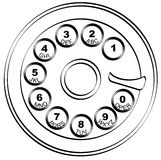 Rotary phone pad Royalty Free Stock Photo