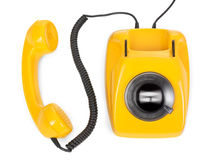 Rotary phone with spinning dial Royalty Free Stock Images