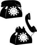 Rotary phones vector illustration