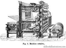 Rotary Printing Press Royalty Free Stock Images