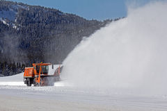 Rotary Snowplow on Marias Pass Royalty Free Stock Photography