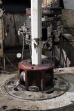 Rotary table of drilling rig Royalty Free Stock Photo