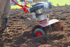 Rotary tiller with plow Royalty Free Stock Photography