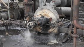Rotary turbine steam pump for liquids. stock video