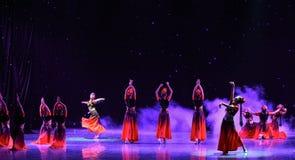 Rotary Turpan girl-Chinese folk dance Stock Photos