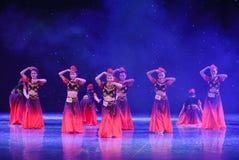 Rotary Turpan girl-Chinese folk dance Stock Photography