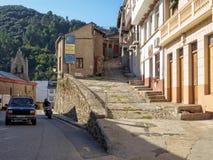 Rotas alternativas de Camino - Villafranca del Bierzo foto de stock