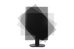 Rotatable lcd monitor Stock Photography