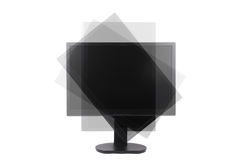 Rotatable lcd monitor Royalty Free Stock Image