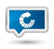 Rotate arrow icon prime blue banner button Stock Photo