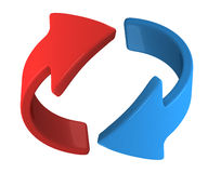 Rotate the blue arrow Royalty Free Stock Images