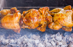Rotate chicken Stock Photo