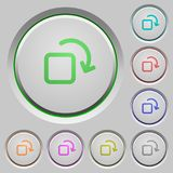 Rotate element push buttons Royalty Free Stock Photo
