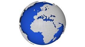 Rotate ha punteggiato il globo illustrazione vettoriale