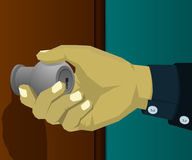 Rotate the handle to open the door Royalty Free Stock Photography
