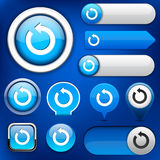 Rotate high-detailed web button collection. vector illustration