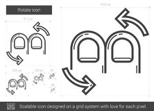 Rotate line icon. Stock Photos
