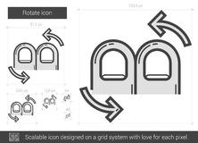 Rotate line icon. Royalty Free Stock Photo