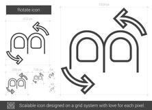 Rotate line icon. Royalty Free Stock Photos