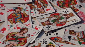 Rotate playing card  background stock video