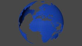 Rotate pontilhou o mapa do mundo ilustração stock