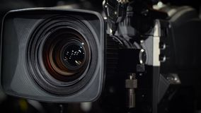 Rotate of a Television Camera stock video