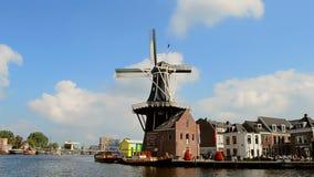 Rotated Adriaan windmill in Haarlem, Netherlands, Stock Photo