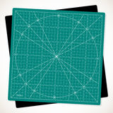 Rotated  cutting mat for quilting, patchwork and craft Royalty Free Stock Photos