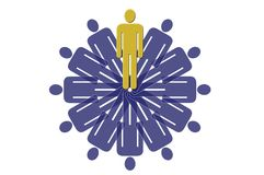 Rotated man#2. Rotated man, multiplied stock illustration