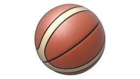 Rotated red-white basketball stock footage