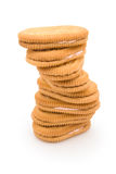 Rotated sandwich biscuits Stock Photography