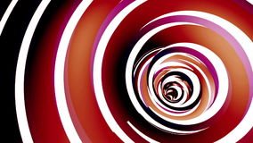 Rotated twisted red tunnel. Loop animation stock footage