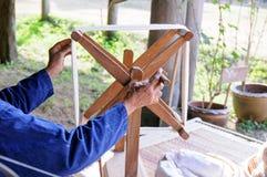 Rotatie katoenen draad Stock Afbeelding