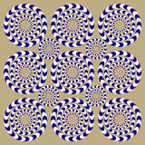 Rotatiecirkels (Illusie) royalty-vrije illustratie