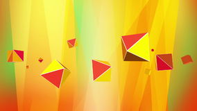 Rotating abstract orange octahedron for VJ background stock video footage