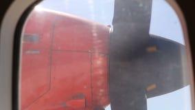 Rotating Aircraft Engine Propeller Closeup stock footage