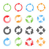 Rotating Arrows Set. Vector Illustration Royalty Free Stock Photo