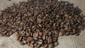 Rotating Background Of Roasted Coffee Beans stock video footage