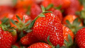 Rotating background of strawberry stock video footage