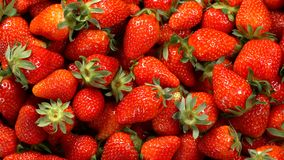 Rotating background of strawberry stock footage