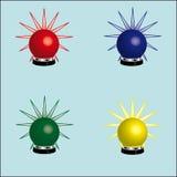 Rotating beacons Stock Photos