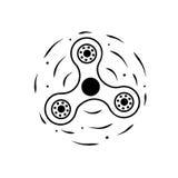 Rotating black spinner,  illustration Royalty Free Stock Images