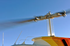 Rotating Blades of Helicopter Stock Images