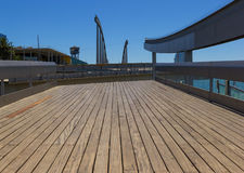 The Rotating bridge. In Barcelona , Spain Royalty Free Stock Image