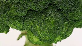Rotating broccoli stock video footage